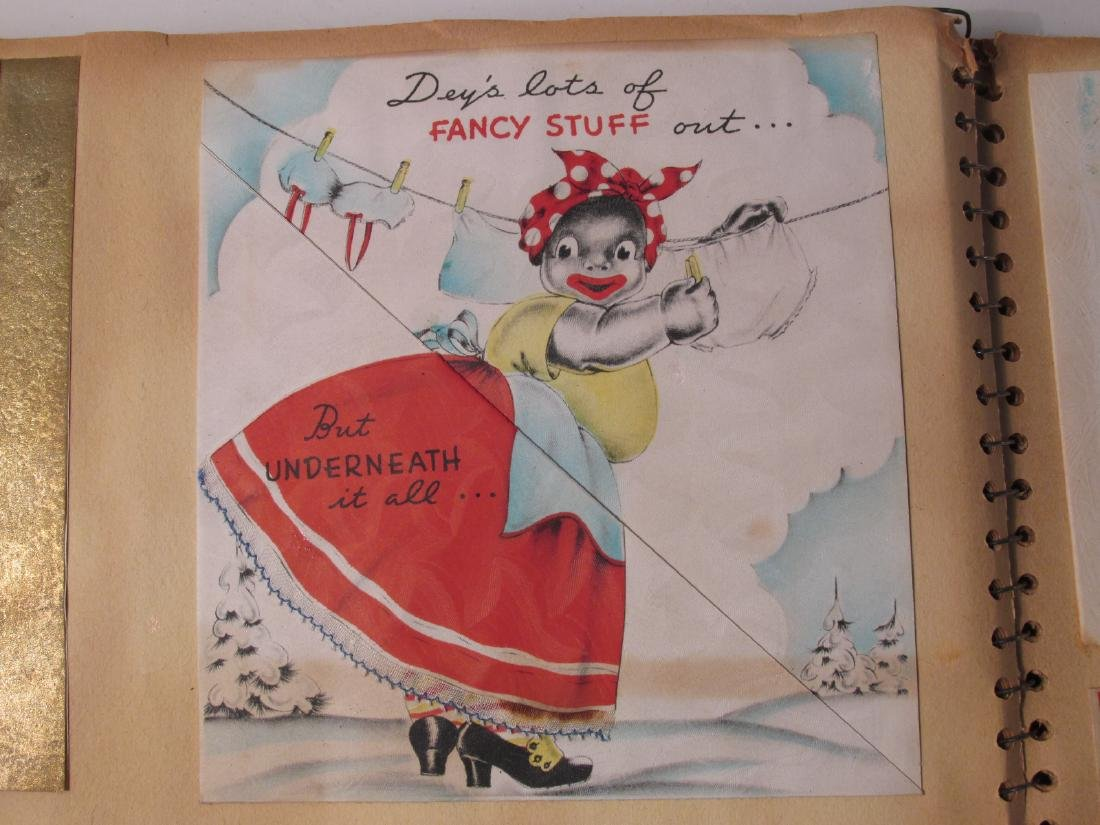 EARLY 20TH CENTURY SCRAPBOOK: VALENTINES, EPHEMERA - 7
