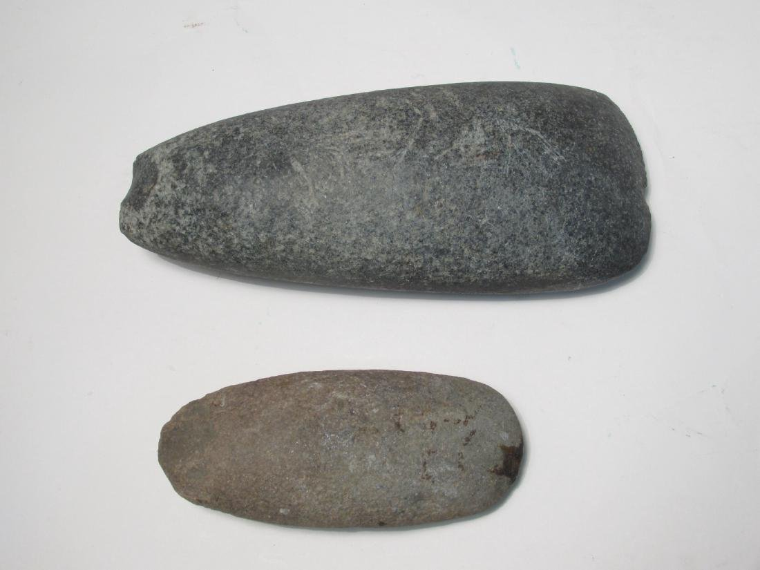 TWO NATIVE AMERICAN STONE AXE HEADS