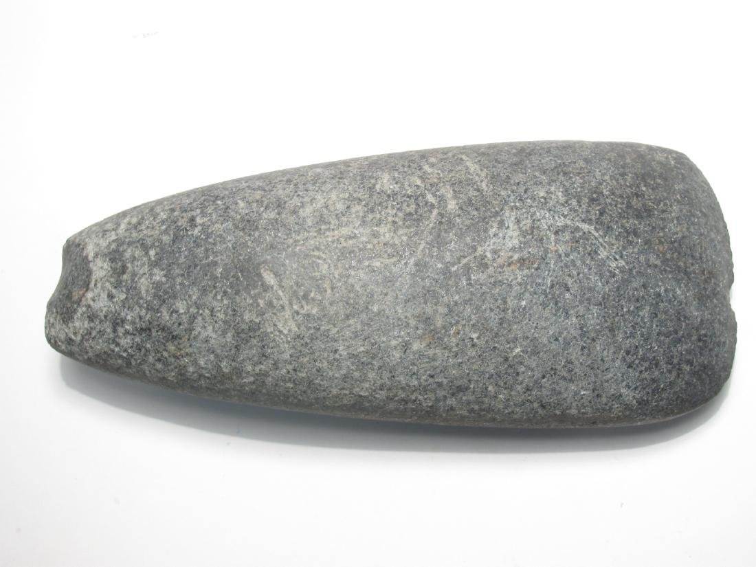 TWO NATIVE AMERICAN STONE AXE HEADS - 2
