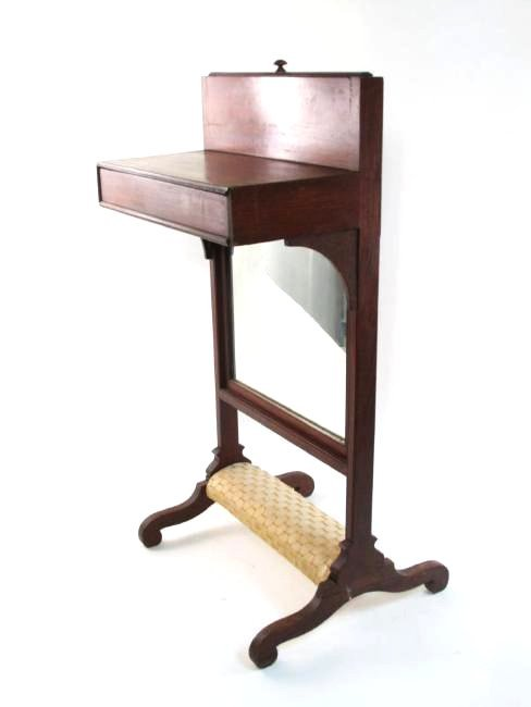 ANTIQUE MID-LATE 19TH c SHAVING STAND VALET