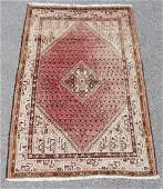 MEDIUM HAND KNOTTED PERSIAN WOOL RUG 43 x 65