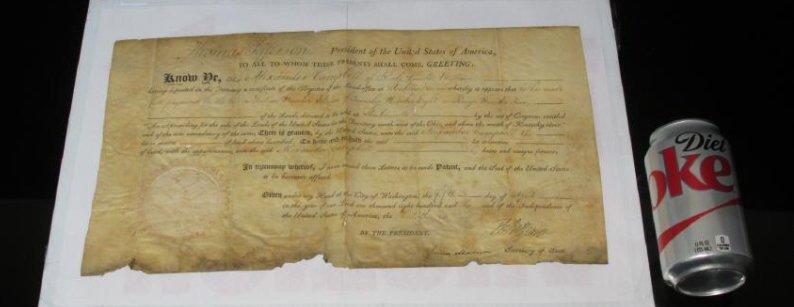1806 LAND DEED SIGNED TH. JEFFERSON & J. MADISON - 10
