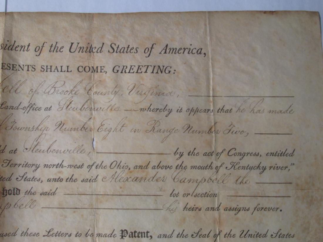 1806 LAND DEED SIGNED TH. JEFFERSON & J. MADISON - 6