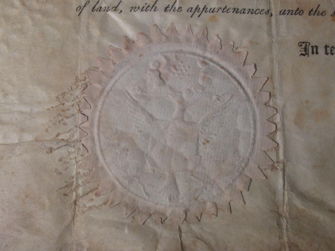 1806 LAND DEED SIGNED TH. JEFFERSON & J. MADISON - 7