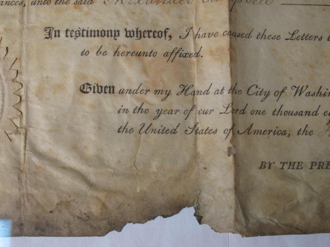 1806 LAND DEED SIGNED TH. JEFFERSON & J. MADISON - 8