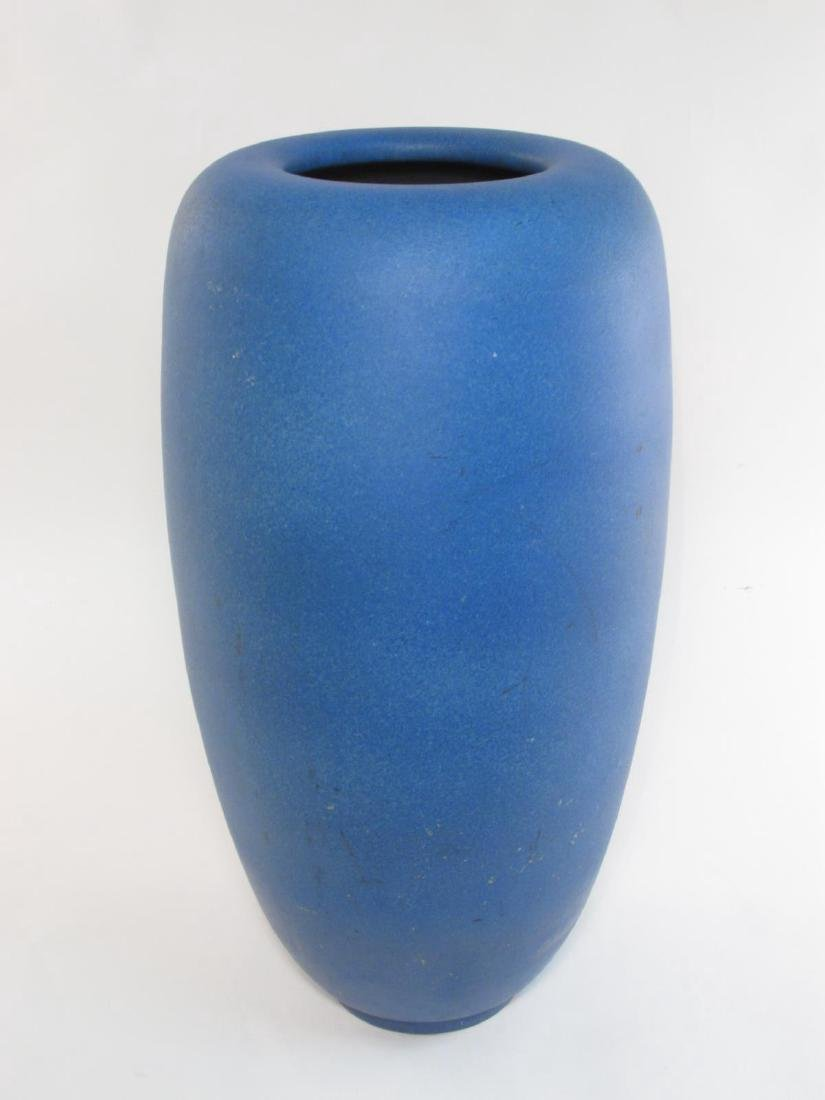 LARGE DEEP BLUE MATTE GLAZED FLOOR VASE