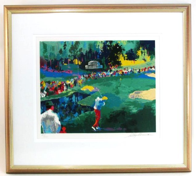 """LEROY NEIMAN """"16th AT AUGUSTA"""" SIGNED SERIGRAPH"""