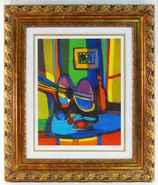MARCEL MOULY HAND SIGNED & FRAMED LITHOGRAPH