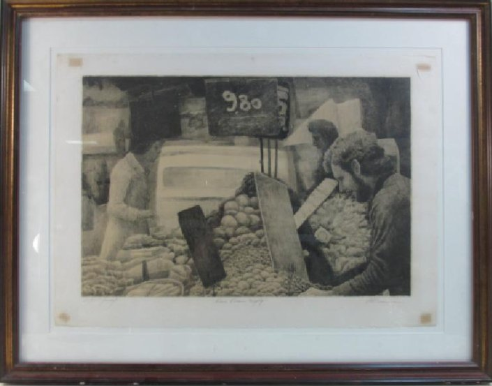 HAROLD ALTMAN FRAMED ARTIST PROOF LITHOGRAPH