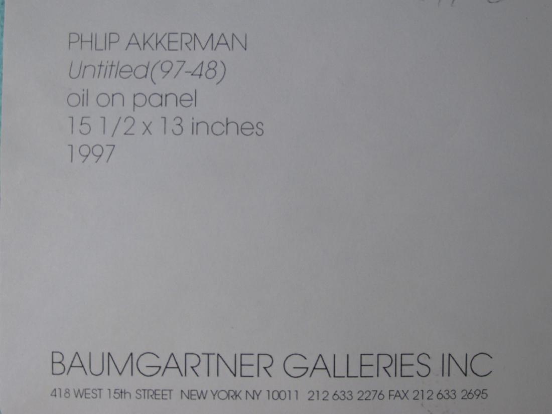 PHILIP AKKERMAN OIL ON MASONITE PAINTING UNTITLED - 5