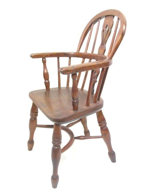 19TH C LOW BACK WINDSOR CHAIR BY J. SPENCER