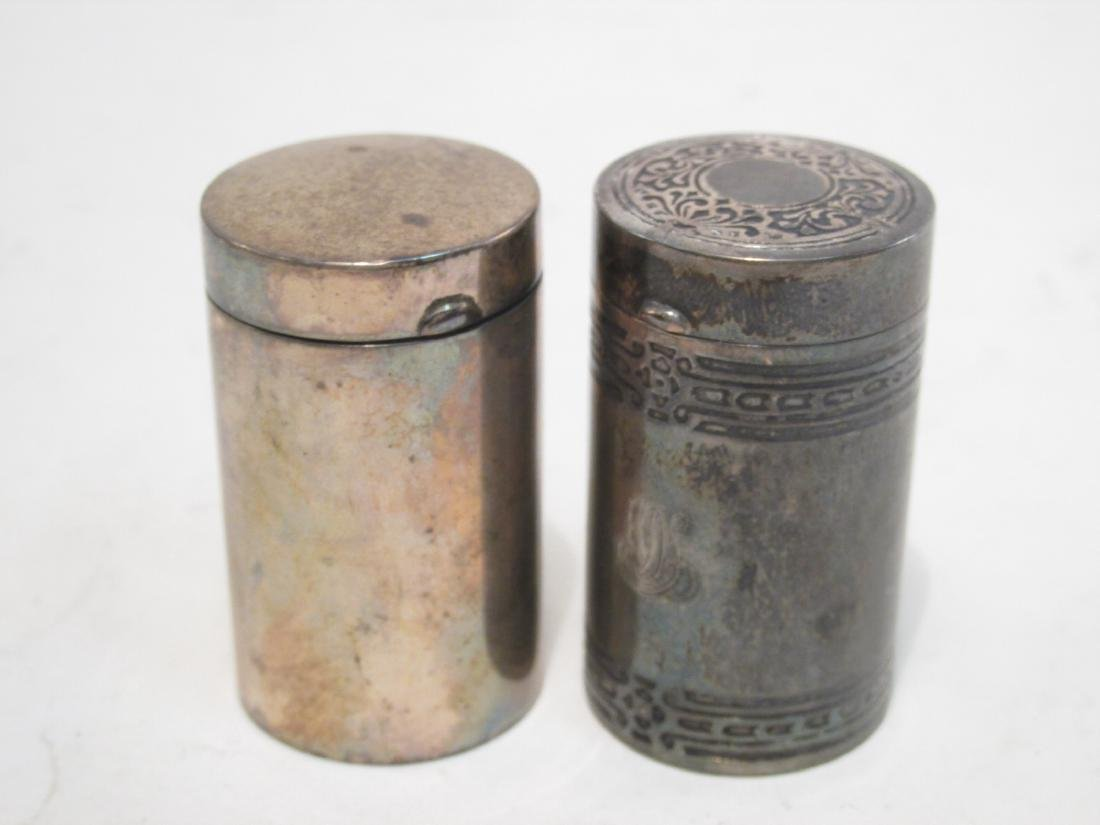 TWO TIFFANY & CO GILLETTE STERLING TRAVEL RAZORS