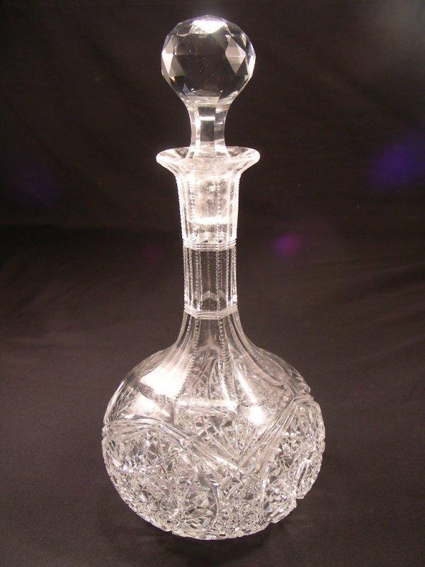 507: CUT GLASS CRYSTAL DECANTER