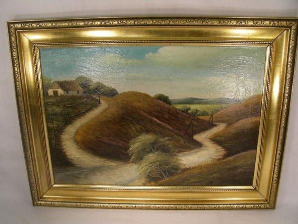 510: MOORS OF GUTLAND 1899 OIL PAINTING BY RANKENBERG