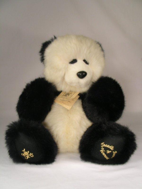 524: TREADLE BEARS OF VERMONT STUFFED PANDA BEAR