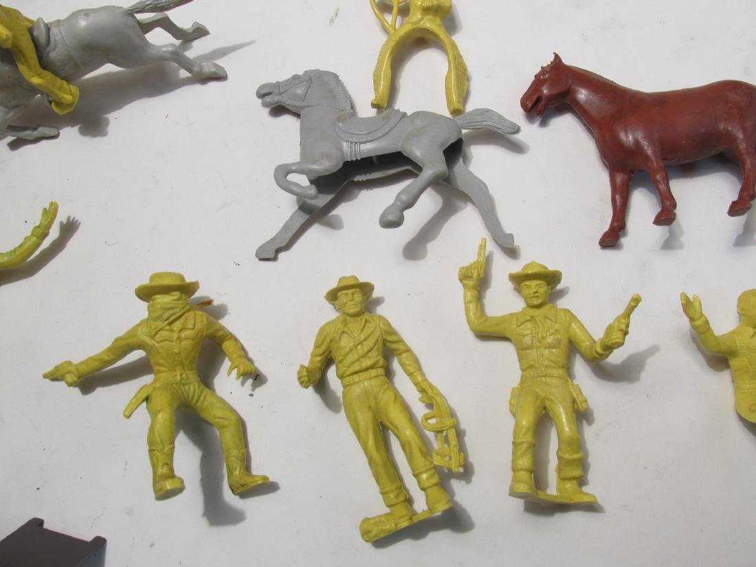 VINTAGE SILVER CITY FRONTIER TOWN TOY SET TIN LITH - 3