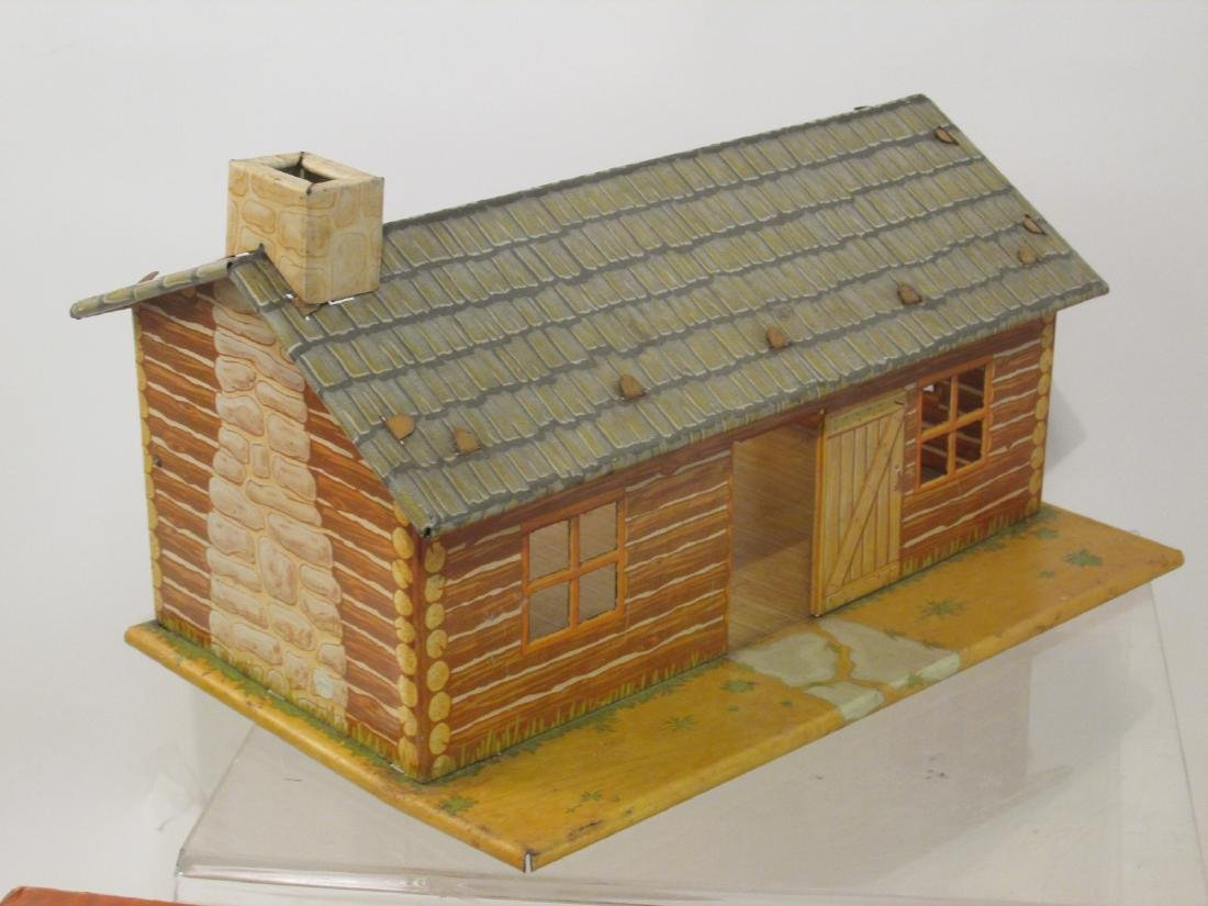VINTAGE SILVER CITY FRONTIER TOWN TOY SET TIN LITH - 9