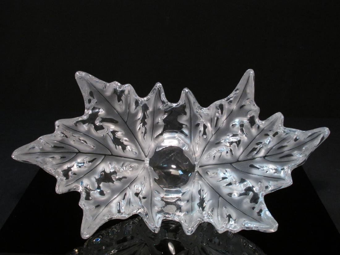 "LALIQUE ""CHAMPS ELYSEES"" CRYSTAL CENTERPIECE BOWL"