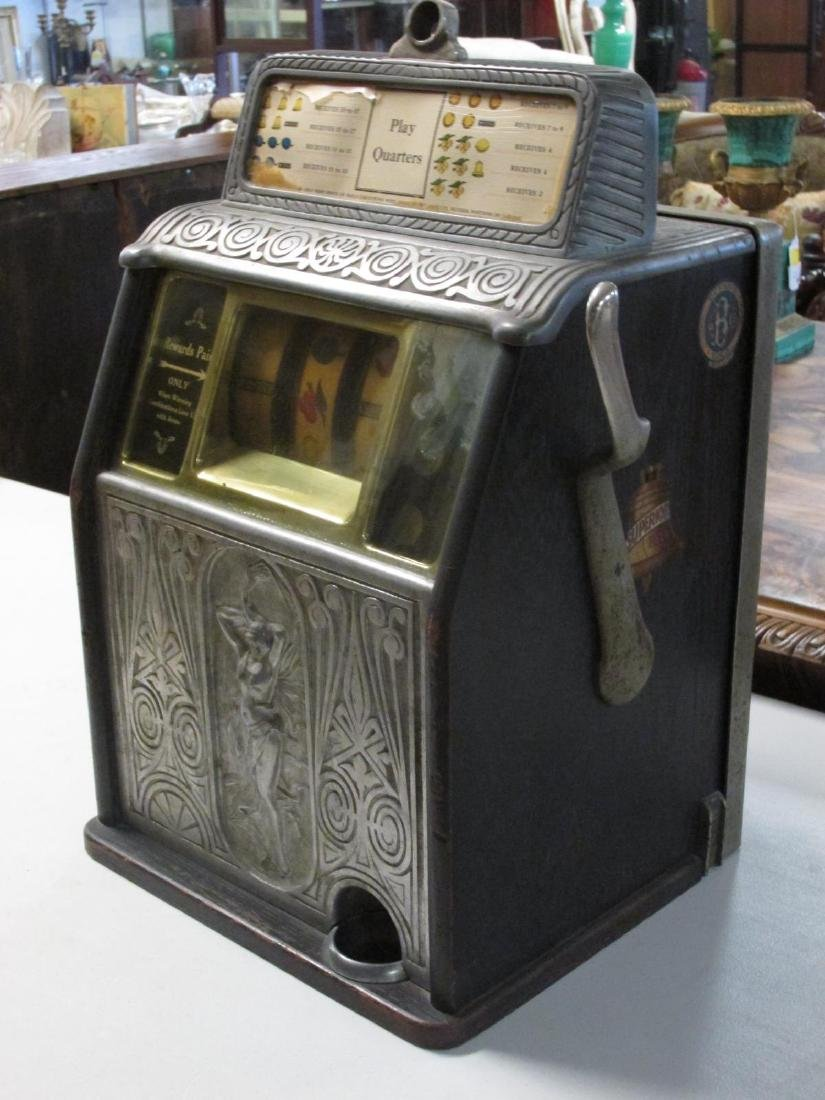 VINTAGE CAILLE BROS SUPERIOR BELL SLOT MACHINE