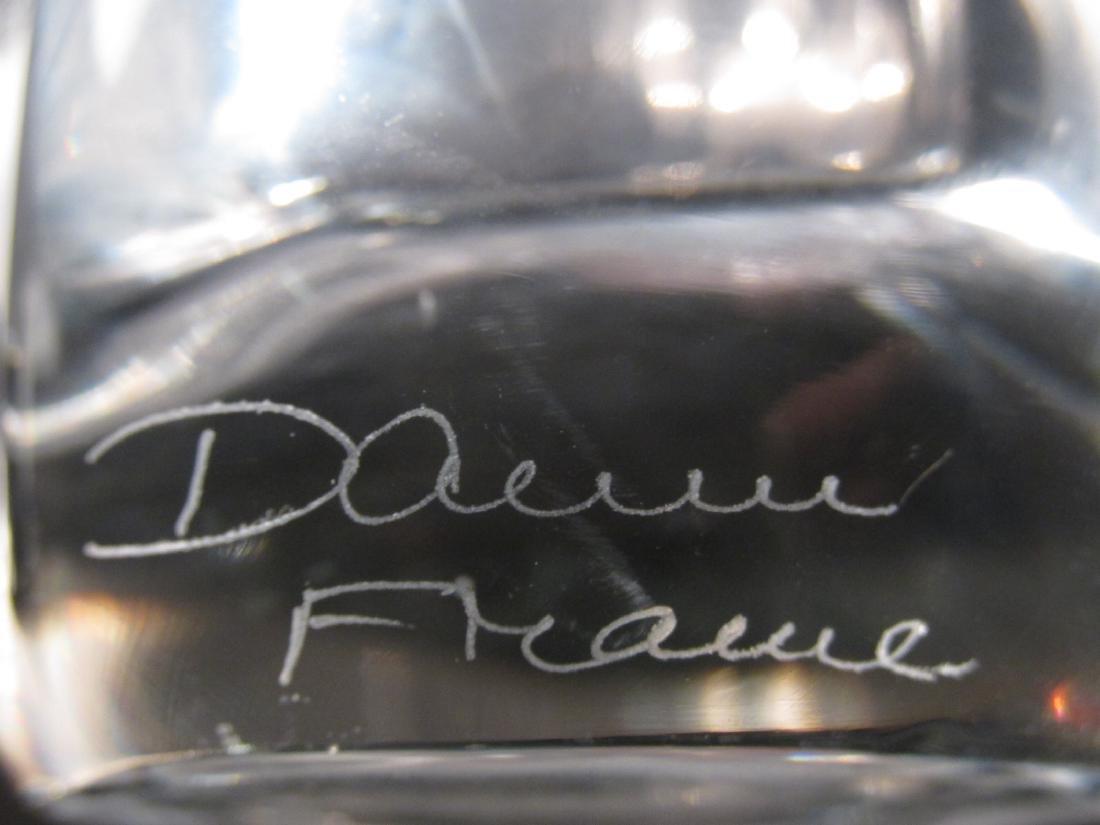 PAIR DAUM NANCY FREEFORM CLEAR GLASS VASES - 3