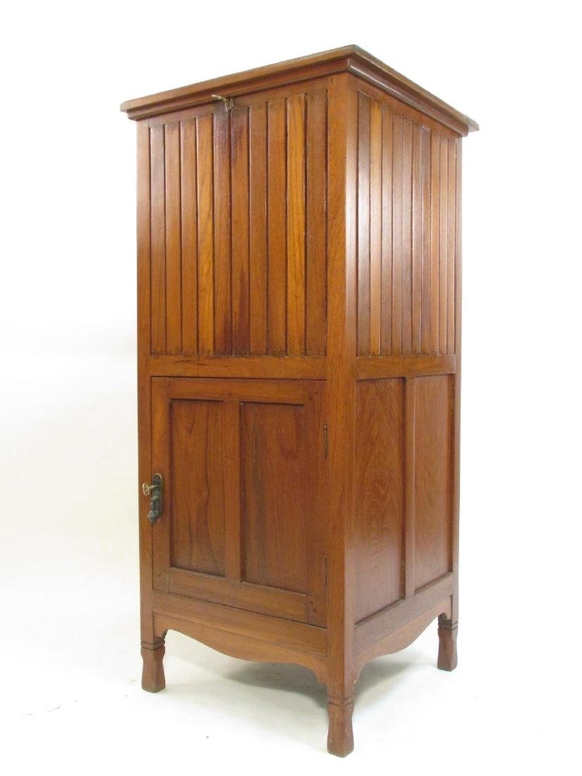 ARTS & CRAFTS MISSION STYLE TALL WOODEN CABINET