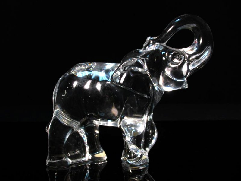 FOUR BACCARAT CLEAR CRYSTAL ANIMALS: ELEPHANT ETC. - 2