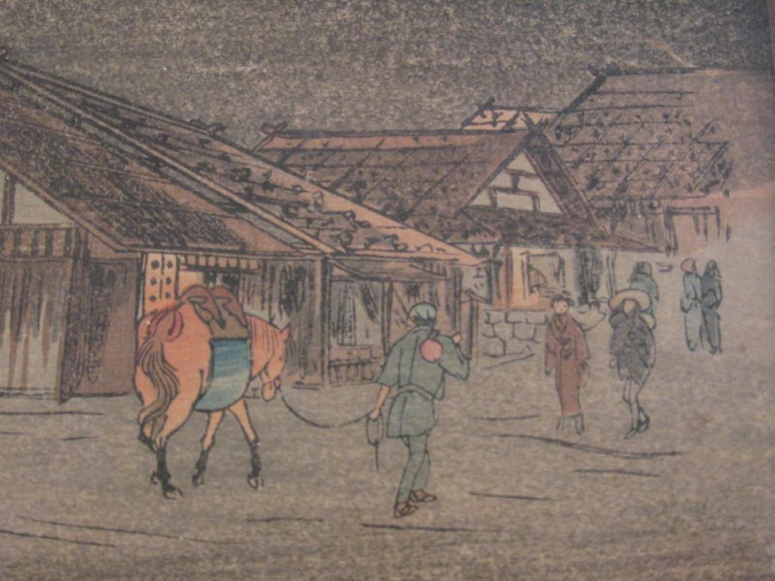 ANTIQUE FRAMED JAPANESE WOODBLOCK PRINT - 2
