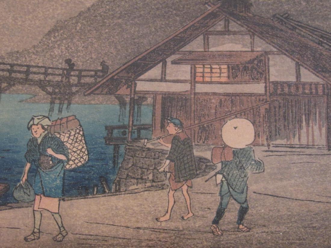 ANTIQUE FRAMED JAPANESE WOODBLOCK PRINT - 3