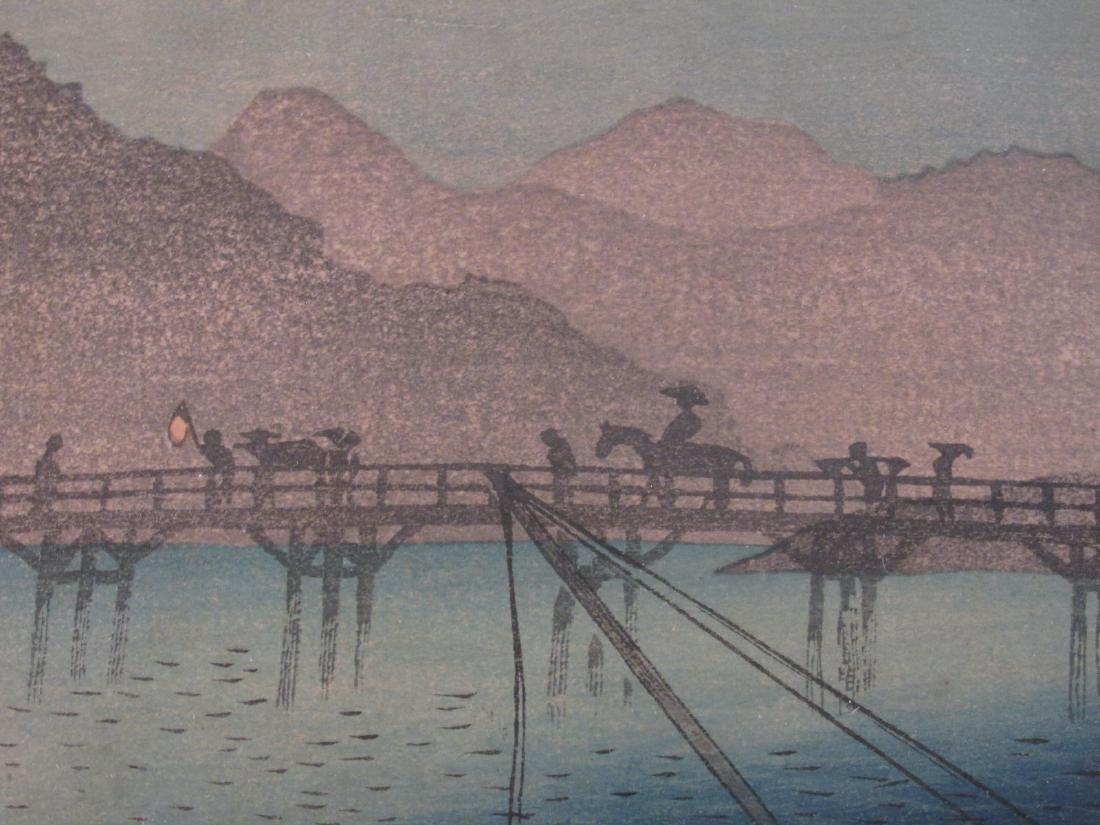 ANTIQUE FRAMED JAPANESE WOODBLOCK PRINT - 4