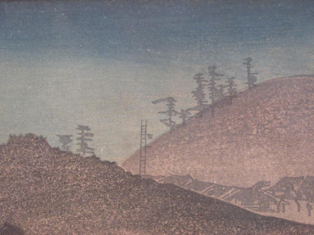 ANTIQUE FRAMED JAPANESE WOODBLOCK PRINT - 6
