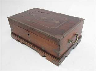 ANTIQUE ANGLOINDIAN ROSEWOOD SEWING BOX