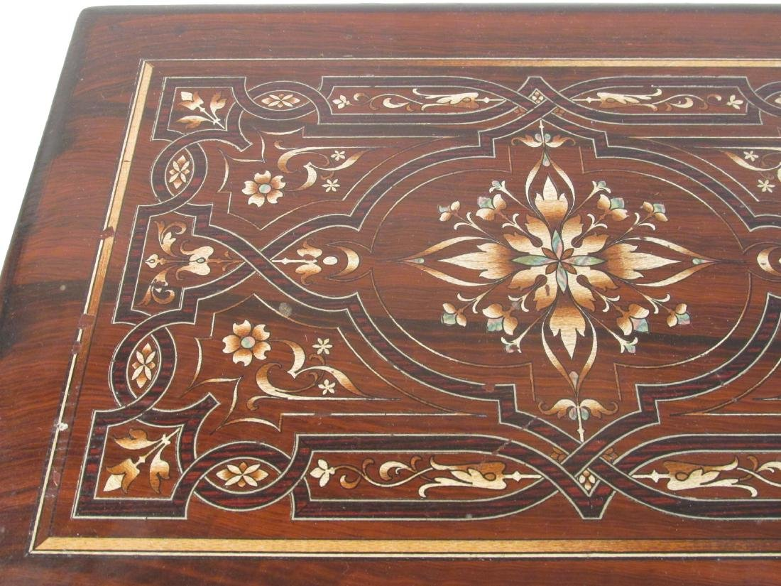 19TH C MARQUETRY INLAY WRITING BOX LAP DESK - 2