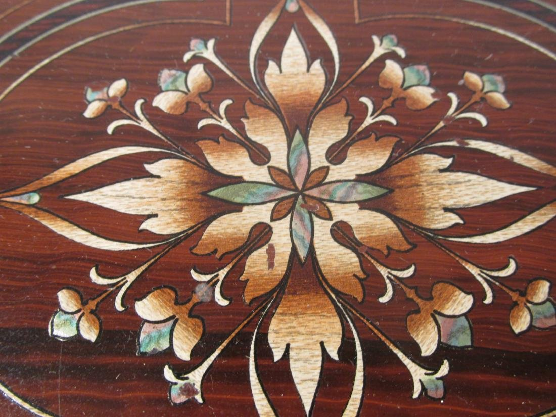 19TH C MARQUETRY INLAY WRITING BOX LAP DESK - 3