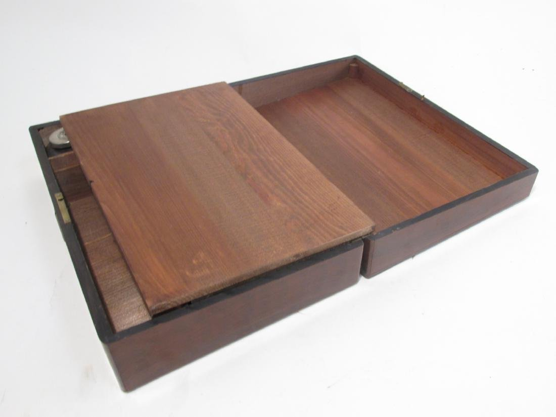 19TH C MARQUETRY INLAY WRITING BOX LAP DESK - 8
