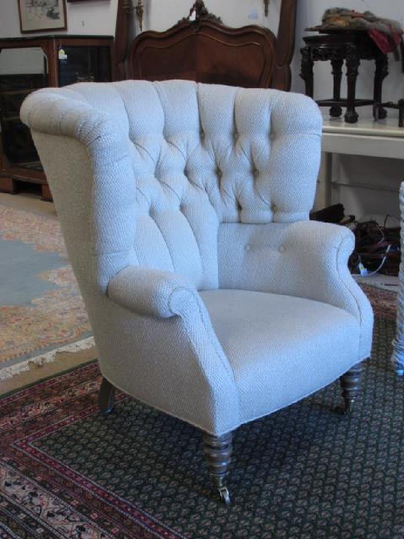BAKER FURNITURE CREAM TONED WINGBACK CHAIR
