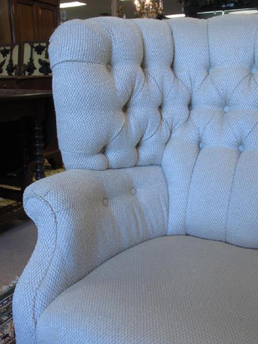 BAKER FURNITURE CREAM TONED WINGBACK CHAIR - 3