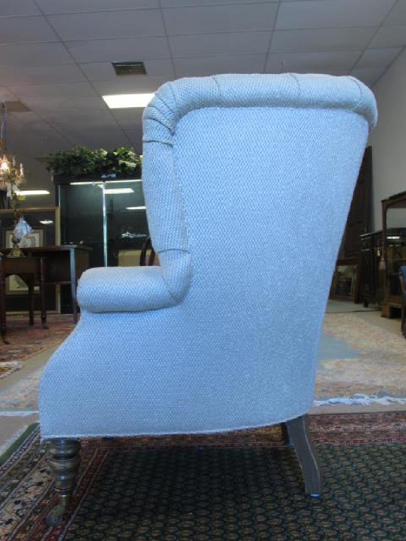 BAKER FURNITURE CREAM TONED WINGBACK CHAIR - 6