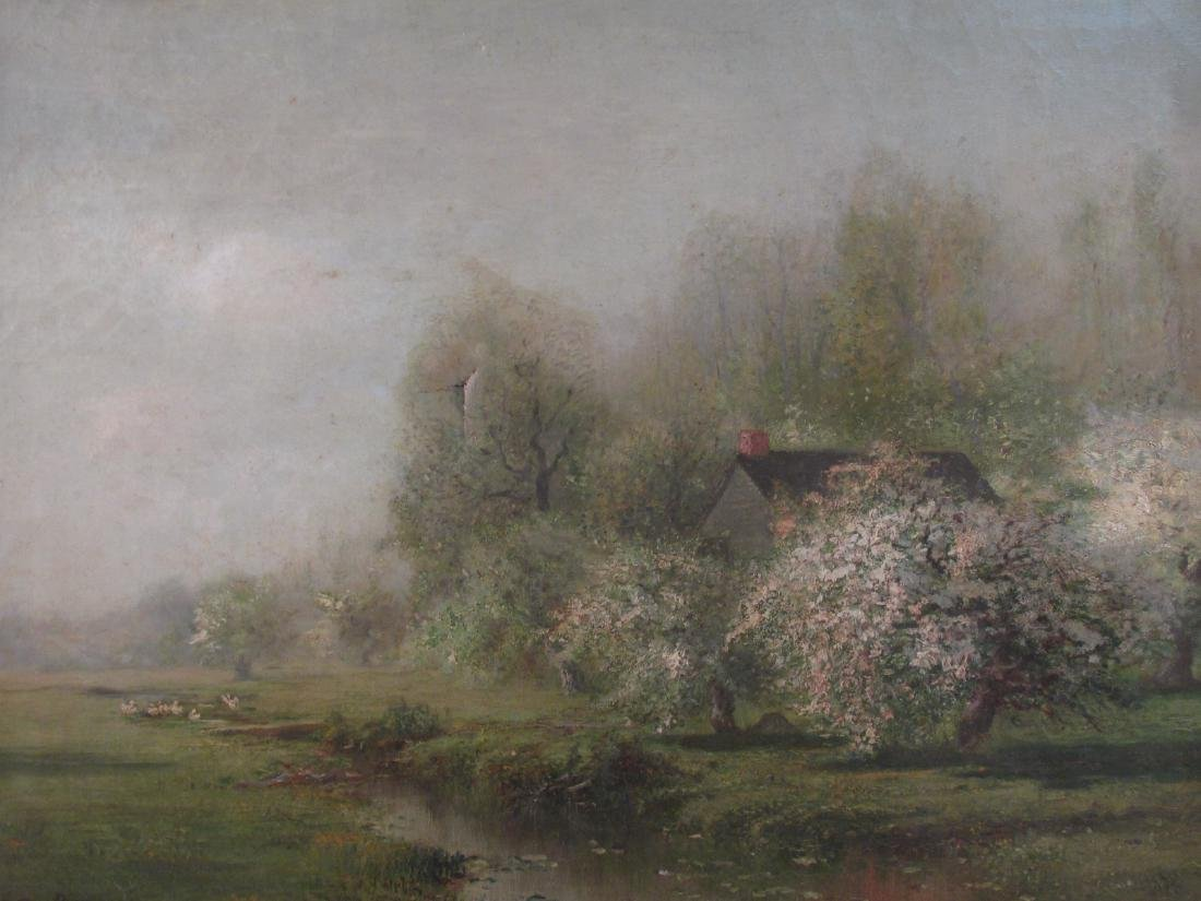 ARTHUR PARTON OIL ON CANVAS PAINTING MONTH OF MAY