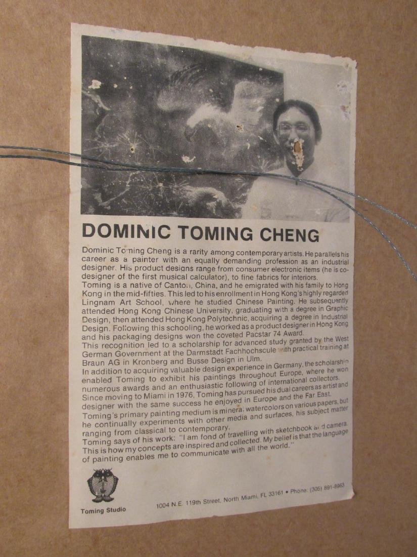 DOMINIC TOMING CHENG ACRYLIC & FOIL PAINTING - 8