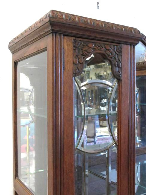 FRENCH VICTORIAN CARVED WALNUT DOUBLE CURIO BUFFET - 3