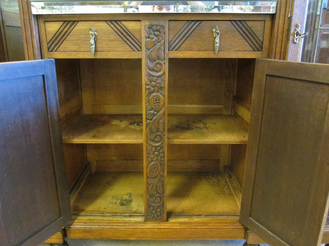 FRENCH VICTORIAN CARVED WALNUT DOUBLE CURIO BUFFET - 6