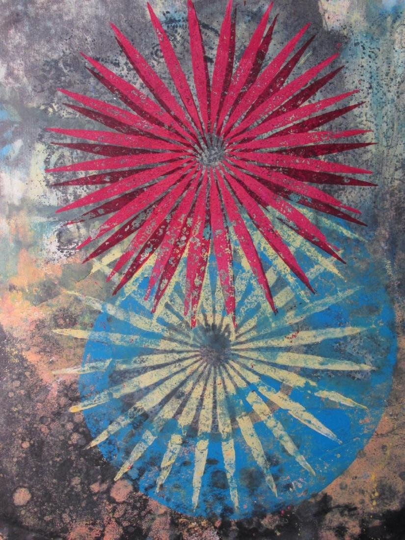 PHILIP TAAFFE MIXED MEDIA PAINTING ON PAPER 1996