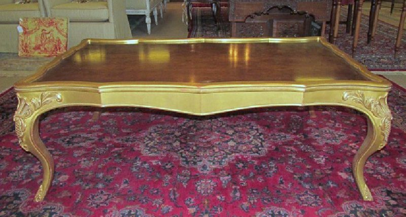 PARCEL GILT ROCOCO STYLE COFFEE TABLE