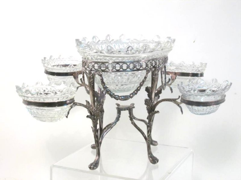 1801 GEORGIAN ISAAC PARKIN STERLING SILVER EPERGNE