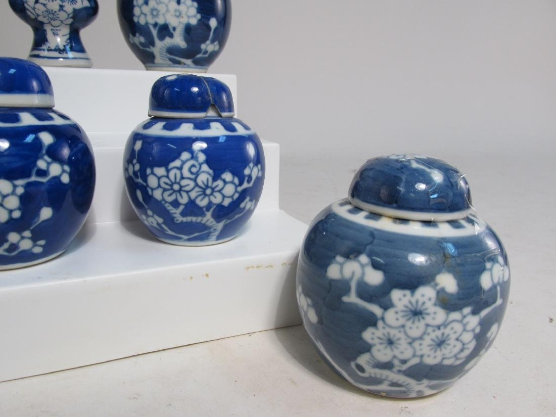 COLLECTION CHINESE PRUNUS CABINET VASES & JARS 17p - 5
