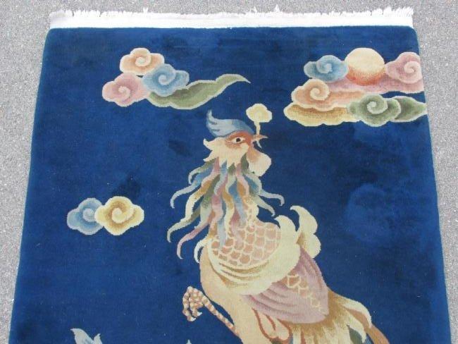 CHINESE ART DECO WOOL RUG 4' X 6' - 2