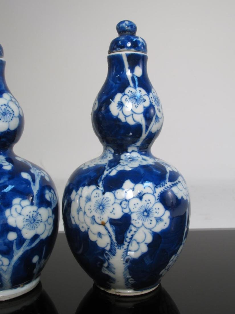 CHINESE QING DYNASTY DOUBLE GOURD HULUPING VASES 2 - 2