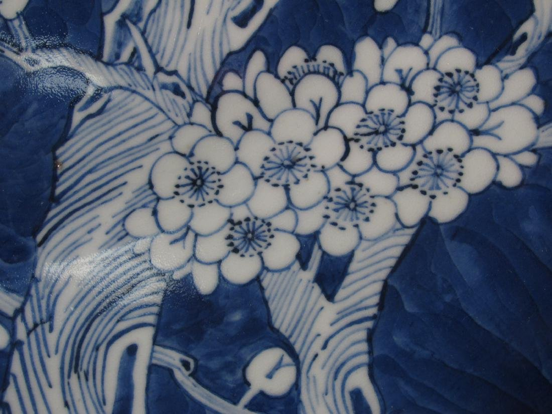 "CHINESE QING DYNASTY 16"" PRUNUS PORCELAIN CHARGER - 3"