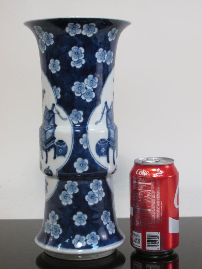 PAIR CHINESE QING DYNASTY PORCELAIN CYLINDER VASES - 7