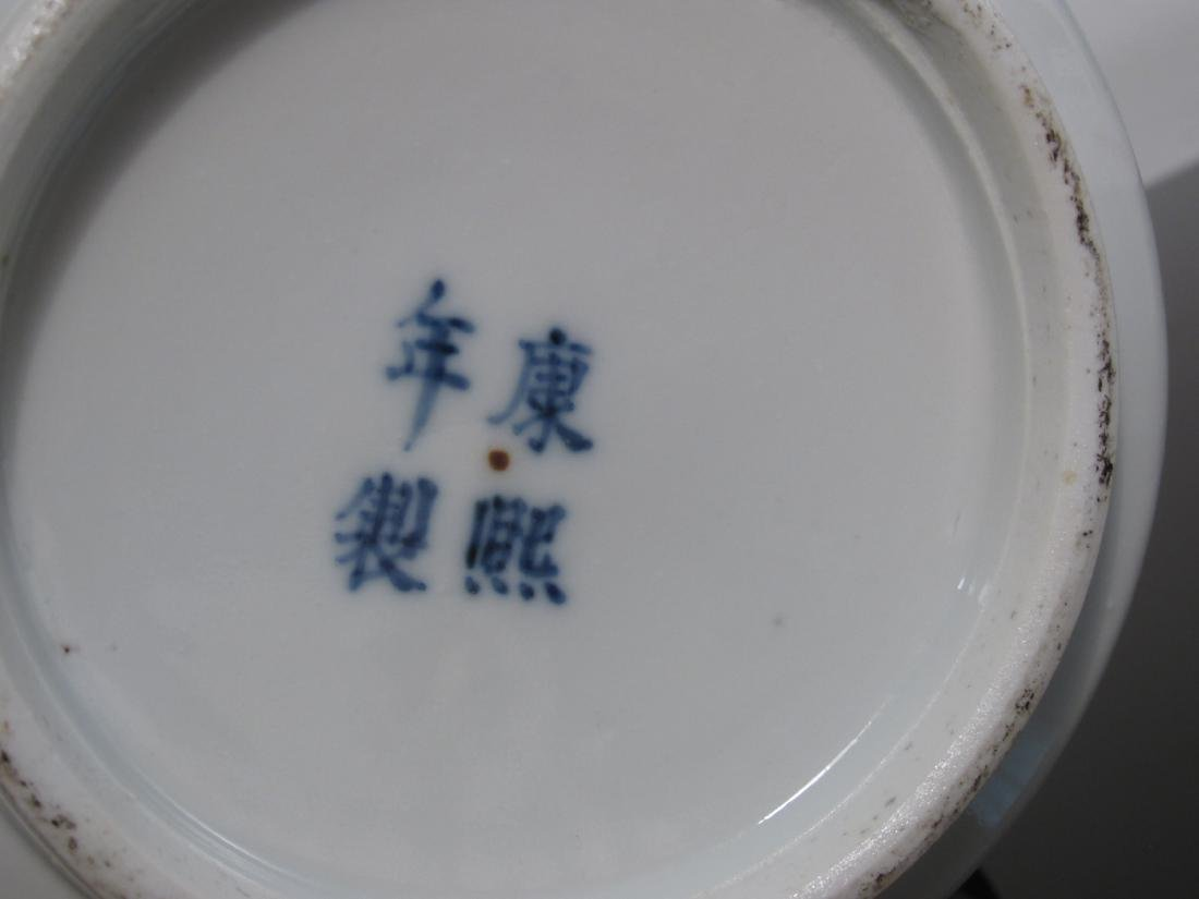 PAIR CHINESE QING DYNASTY PORCELAIN CYLINDER VASES - 9